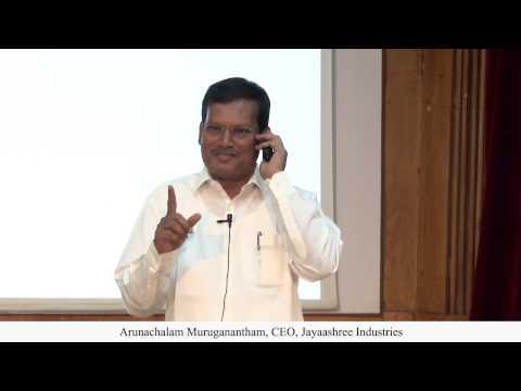 Arunachalam Muruganantham delivers Key note address at Anusmaran 2015 ,IIMB