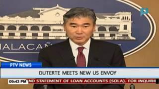 Duterte meets new US Envoy