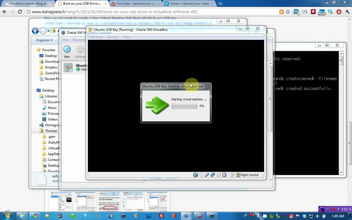 tutorial virtualbox boot usb drive