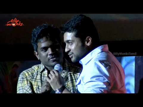 Surya Sings Ek Do Teen Song On stage  Anjaan Audio Launch