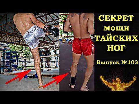 Почему у Тайцев такие мощные ноги? Why Thai boxers have such powerful legs?