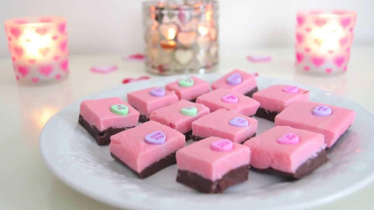 DIY Valentines Day Treats Quick Amp Easy Pink Fudge YouTube