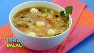 Potato, Zucchini and Tomato Soup by Tarla Dalal