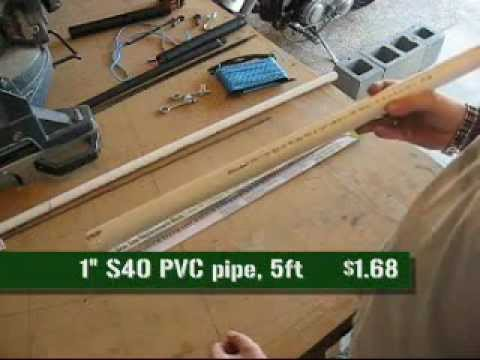 Compact. Take-Down PVC Bucksaw You Can Make Yourself