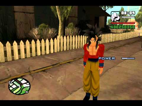 GTA Sanandreas Goku ss3 and ss4 Mods