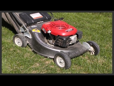 How to change the lawnmower's engine oil