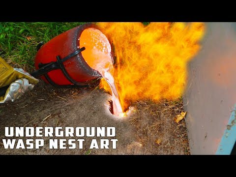 Download Casting GIANT Underground Wasp Nest with Molten Aluminum Mp4 baru