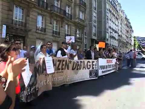 Manifestation devant Ambassade Marocaine - Paris