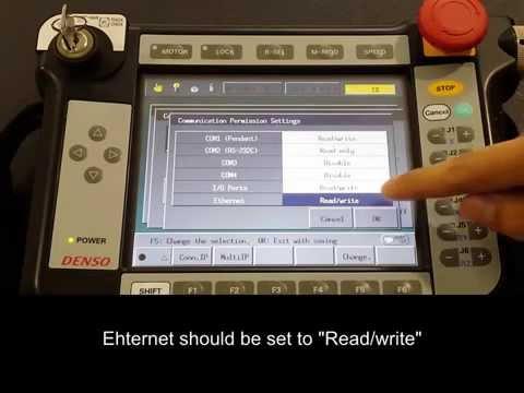DENSO Robotics – ORiN2 Setup on RC7 – Enabling Ethernet Communication