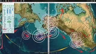 7/15/2018 -- Earthquake activity spreads to EU + West Coast USA Slow Slip building pressure