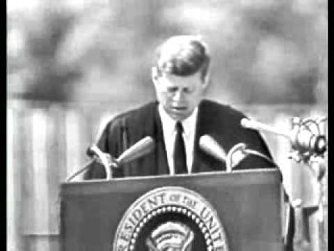 "JFK ""Peace"" Speech at American University -- Part 1"
