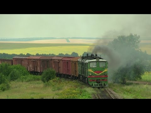 Тепловоз 2ТЭ10Л-1250 Луганка на перегоне Гиздита-Дрокия / 2TE10L-1250 between Gizdita and Drochia