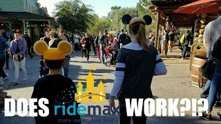 TESTING RIDEMAX AT DISNEYLAND! HOW MANY RIDES CAN WE GET ON?