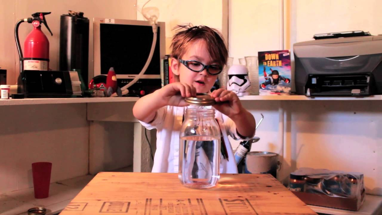 Kid Who Really Wanted To Make Science Video Demonstrates Tornado In A Jar