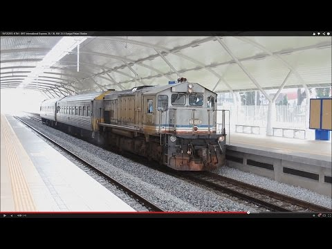 SRT International special express train no.35 Bangkok-Butterworth (Alor Setar→Butterworth FULL)