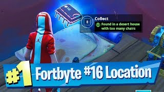 Fortnite Fortbyte #16 Location - Found in a Desert House with too many chairs