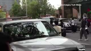 Morgan Thompson-Calgary Man Shot Critical-Zio jew Free Speech Assoc. of Paul Fromm, Ezra Levant