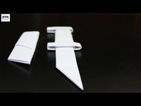 A4 Paper Sword/Knife   How To Make A4 Paper Sword