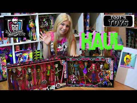 MONSTER HIGH STUDENT DISEMBODY COUNCIL & A PACK OF TROUBLE 4 PACK HAUL VIDEO