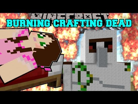 Minecraft: BURNING CRAFTING DEAD! (HONEY BOO BOO, CARTER, & VALENTINE MUST BURN!) Mini-Game