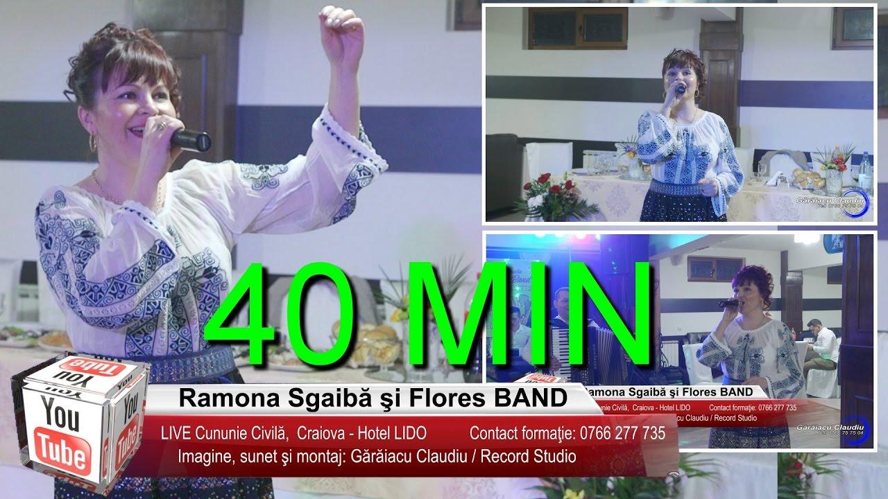 Ramona Sgaiba si Flores BAND | LIVE Colaj 40 MIN Ascultari, Brauri, Jocuri | Cununie Civila Craiova
