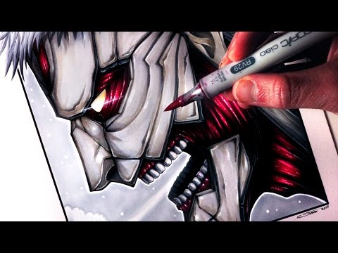 Let's Draw the ARMORED TITAN from ATTACK ON TITAN - FAN ART FRIDAY