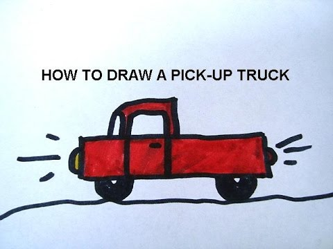 how to draw a pickup truck youtube