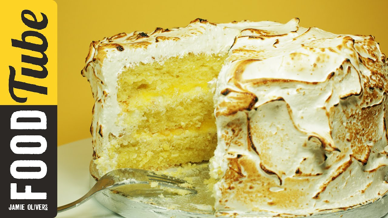 Triple-Layer Lemon Meringue Cake with Marshmallow Icing | Cupcake ...