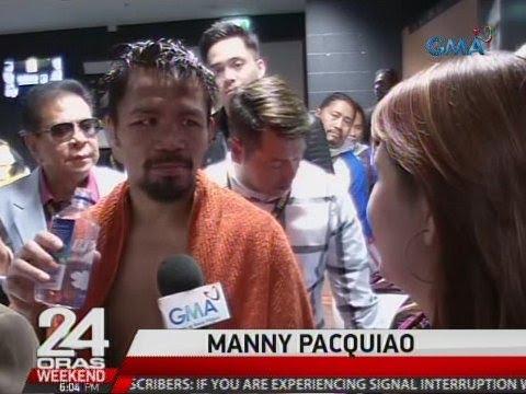 24 Oras: Manny Pacquiao, tanggap ang resulta ng laban pero may nais daw mabago sa kanyang game plan
