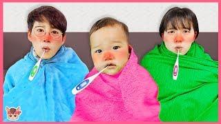 비오는날 밖에서 놀면 감기 걸려요! 인기영상 20분 모음 카페놀이 병원놀이 주방놀이 장난감 놀면서 친구들에게 따뜻한 차 줘요 cold for kids | MariAndKids