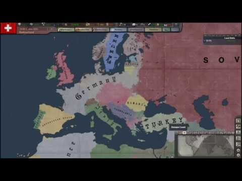 Hearts of Iron 3 Timelapse - Europe 1938 - 1944