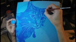 Cat Painting Time Lapse - Fife