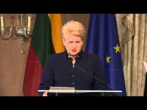 "H. E. DALIA GRYBAUSKAITĖ - ""Welcome address and keynote speeches"