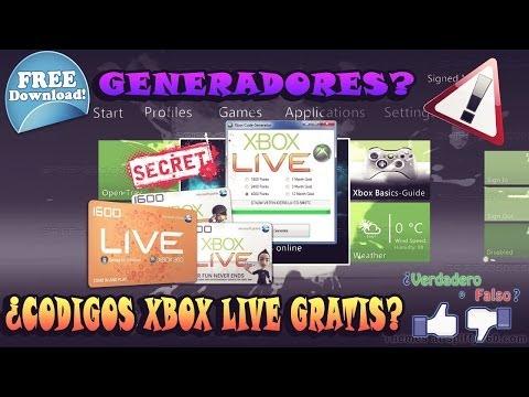 XBOX LIVE - ¿Generadores de Códigos Gratis?