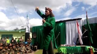 Gus Nuril Sebagai Panglima Patriot Garuda Nusantara sedang di wonosobo bersama anggota Banser