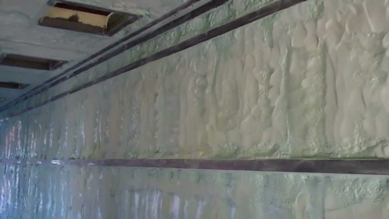 Closed Cell Spray Foam 40 Shipping Container Youtube