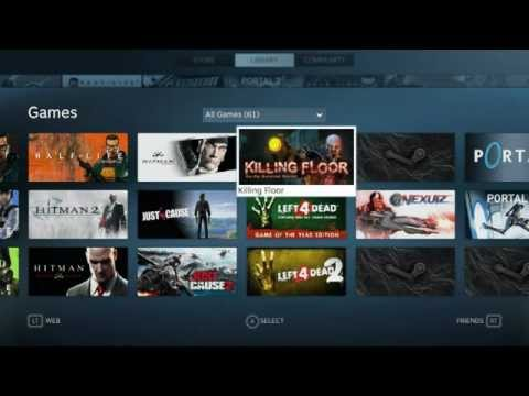 Steam Big Picture   Library. Friends Gamepad