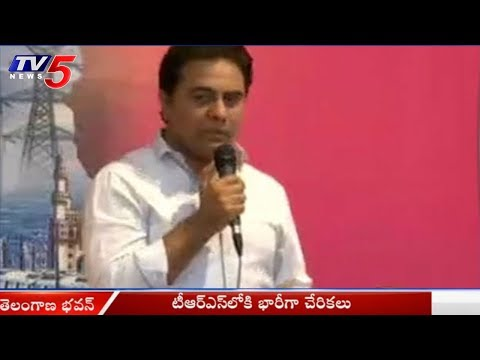 Minister KTR Speech at Telangana Bhavan | Gampa Nagender Joins TRS Party | TV5 News