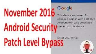 Bypass/Remove (FRP) Samsung Galaxy with Anroid 6.0.1-November 2016 Security Patch level