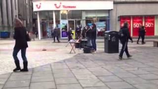 Mexican music at Aberdeen street