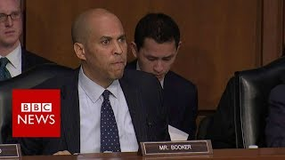 US senator to Trump official: Your amnesia is complicity - BBC News