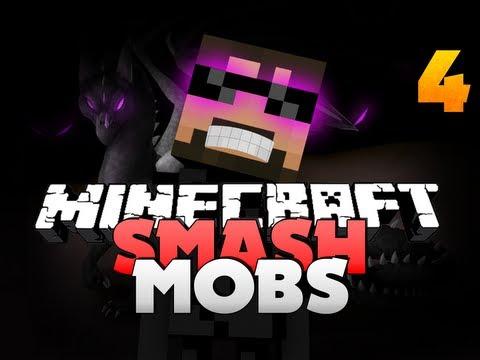 Minecraft Super Smash Mobs 4 - ENDERMAN!!