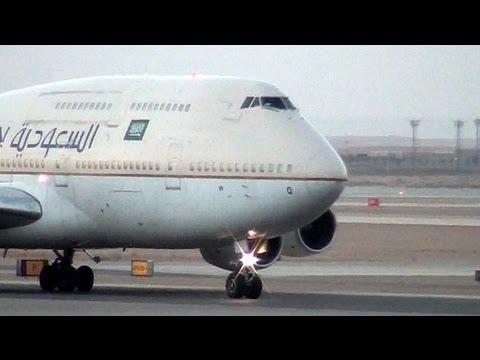 Riyadh Airport Traffic OERK RUH KKIA الحركة الجوية في مطار الرياض