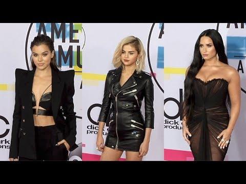2017 American Music Awards Red Carpet Selena Gomez, Demi Lovato, Hailee Steinfeld thumbnail