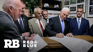 Vice President Mike Pence files for President Trump for the New Hampshire Primary