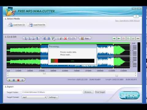 Free MP3 WMA Cutter quick demo