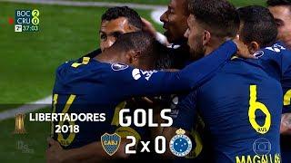 Boca Juniors 2 x 0 Cruzeiro - Libertadores 2018 - Globo HD⁶⁰