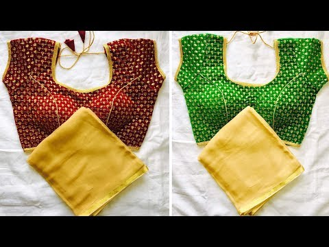latest blouse pattern designs||full stitch  embroidery work blouse and saree