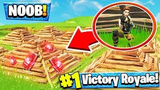 CAMPING NOOB TRIES TO HIDE WITH DECOY PYRAMIDS... THEN THIS HAPPENED!!   Fortnite Funny Moments 210
