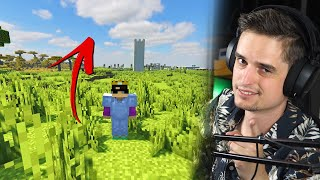 15 minuten lang één kant op lopen in Minecraft